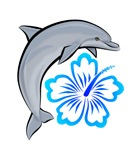 Dolphin Hibiscus Blue 1